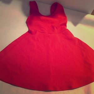 Red bow Poetry dress size large